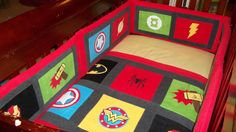 Custom Superhero baby bedding, Superhero nursery set