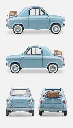Vespa 400 Micro Car,by ACMA for Piaggio1957/1961