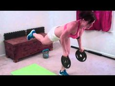 5 Minute Arm Workout Real Time: Melissa Bender Fitness (5 moves: rolling pushups, down dog pushups, warrior rows, tricep dips)