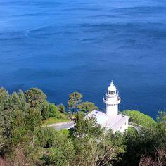 Blick vom Monte Igueldo auf den Leuchtturm. San Sebastian in Spanien #spain #spanien #reisen #travel #sansebastian  Find out more: http://www.nicolos-reiseblog.de