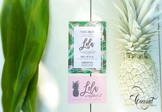 Tropical Bridal Shower // Invitations, Pink, Palms, Beach, Pineapples // Invitations & Design by Coconut Press Boutique Design, A Boutique, Tropical Bridal Showers, Personalized Stationery, Bridal Shower Invitations, Palms, Invitation Design, Wedding Events, Identity