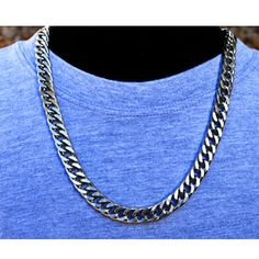 316L Stainless Steel Men s 55CM Long 8MM Width Man Chain Necklace MN3