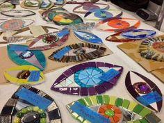 Urban Mosaic Eyes Day at IMA - Make an Eye for Laurel True's Mural