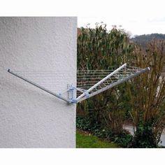 Tørrestativ til udendørs - vægmonteret - Køb tørrestativer billigt her!