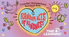 Spread the love and beat the homeschool blues with random acts of kindness. Take a break to teach your children compassion and kindness for others with these activity ideas! Letter Of Encouragement, Kindness Activities, How To Improve Relationship, We Energies, Get Well Cards, Life Skills, Helping Others, Textbook, Coloring Books