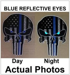 15CM Punisher Skull Decal Sticker Car Motorcycle For Jeep Police Officer Cop