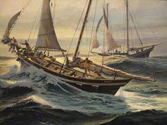 Shaming the Gulls by American Thomas Maclay Hoyne 1924-1989