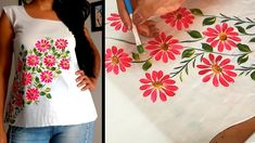 Beautiful Top Design | Easy Hand Painting Ideas