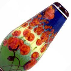 Poppies Fields glass focal bead by JCHerrellGlass on Etsy, $75.00