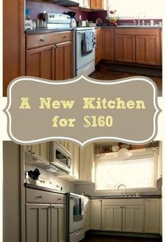DIY kitchen makeover for only $160!