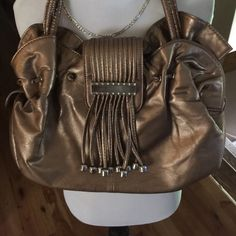 Cute stylish handbag Super cute handbag with silver bead and fringe like detail. Preloved good condition. Bags