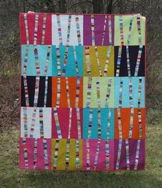 No need to toss away all those small scraps that you think are just to small to use download Bright Birch Trees Quilt Pattern Download by Crazy Mom Quilts. Available now at connectingthreads.com for just $9.00 »