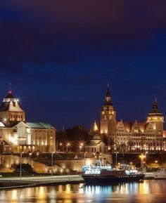 Szczecin by night - Poland