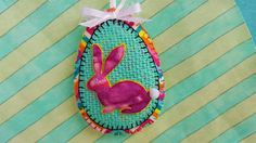 Felt Easter decoration-3D Bunny by DebsArtsyEnchantment on Etsy