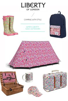 camping with liberty of london style...if only