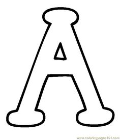 Free Printable Uppercase Letters | free printable coloring page Capital A (Education > Alphabets)