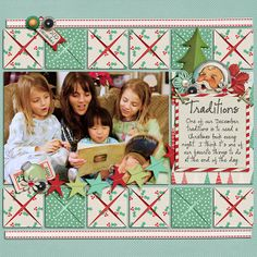 Folded Square Templates by Scrapping with Liz Letter's to Santa by Meredith Cardall City Sidewalks by Forever Joy