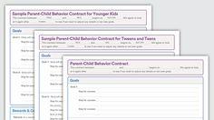 Graphic of Download: Parent-Child Behavior Contracts