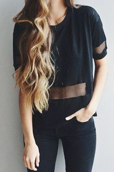 60 Trending And Young Summer Outfits From Fashionista : Kelsey Floyd Tomboy Fashion, Look Fashion, Fasion, Teen Fashion, Fashion Beauty, Autumn Fashion, Fashion Black, Fashion Hair, Fashion Trends