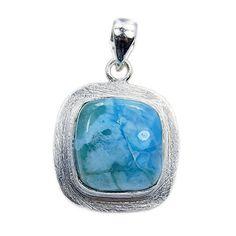 'Blue Lagoon' Sterling Silver Rare Genuine Larimar Pendant  Price : $49.95 http://www.silverplazajewelry.com/Sterling-Silver-Genuine-Larimar-Pendant/dp/B00STS7C0G