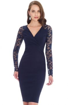 2016 New Fashion Women Summer Dress Sexy V-neck Sheath Lace Solid Full Knee-length Dress Back Hollow Out Casual Work Dresses Casual Work Dresses, Sexy Summer Dresses, Sexy Dresses, Dresses For Work, Sexy Lace Dress, Dress Long, Vestidos Sexy, Casual Winter, Lace Sleeves