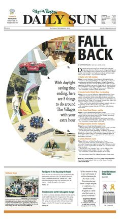 #newsdesign The Villages Daily Sun, designer Chelsea Kleven