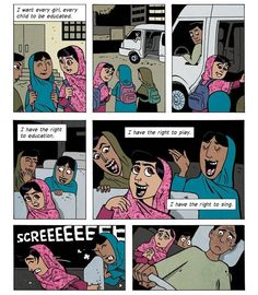 So often we complain about school work, but we're lucky to have the ability to get an education. It's not a burden and shouldn't be treated as such.   Brave girl #Malala part 2