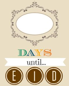 eid countdown decoration idea