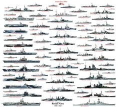 WW2 British Naval Fleet