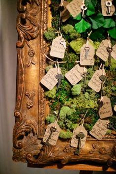 wedding theme secret garden | Secret Garden Theme Escort Cards by adeline