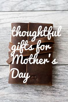 Celebrating mom on Mother's Day with personalized leather journals from a cheery blossom!