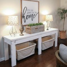 Save money with these farmhouse style home decor ideas! From furniture to home accents and organization ideas, there are over a hundred projects to choose from. Not only are these DIY ideas are easy on the wallet, they are also easy to make. You can complete most of these projects in less than a day. For most of these DIY … #cheaphomedecor