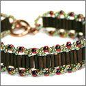 seed beads, bugle beads, easy instructions. Nice