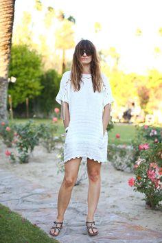 Get Inspired: Coachella Looks - Helena Bordon | Caroline De Maigret in a boho style with a crochet dress