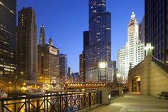 Trump Tower and Chicago River, Chicago, Illinois, USA