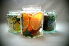 DIY-creation Lufterfrischer Glas