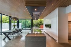 Large central island makes kitchen the hub for entertaining and family life