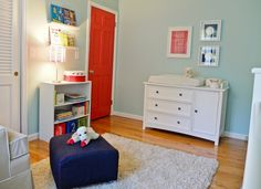 paint the boys door a fun color inside their room!