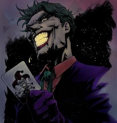 The Joker by Creees HyunSung Lee that I digitally coloured and edited. Posted this on r/DCcomics thought it be appreciated on here as well. Batman Fan Art, Batman Comic Art, Batman Batman, Joker Comic, Joker Art, Joker Joker, Gotham Villains, Comic Villains, Joker Painting