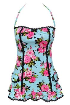 Now, that is the cutest swimsuit I have ever seen.  I hate swimsuits, but I could be tempted to wear a Betsy Johnson swimsuit.