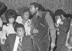 Muhammad Ali. Marvin Gayes. African Americans on the come up in the 70's.