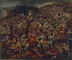 Arthur Boyd, The mockers, oil on canvas on hardboard, Art Gallery of New South Wales Australian Painters, Australian Artists, Arthur Boyd, Dark Landscape, Avant Garde Artists, Hieronymus Bosch, Post Impressionism, Adam And Eve, Various Artists