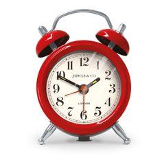 Jones Clocks Mini Bell Alarm Clock in red from ASDA