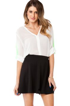 ShopSosie Style : Indy Blouse in Lime