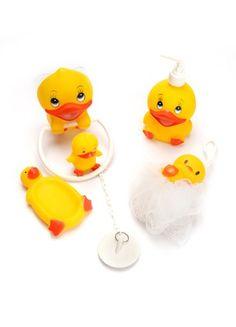 Bath set of 5 plastic duckies
