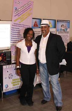 Mark Ress and Jen Rey of Blitz Media Marketing Representing at the 2010 I.E. Largest Mixer
