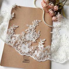 Purple Pink Floral lace trim 3cm dress hemming lace trim in 2cm Per Yard