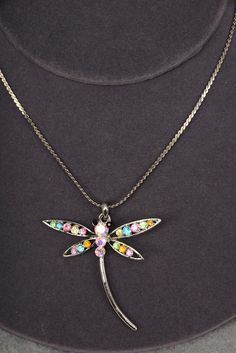 Dragonfly necklace - Sass N Frass 9/10/15 http://www.sassnfrass.net/dragonfly-necklace/