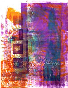 Gelli plate print. Jan 1, 2014