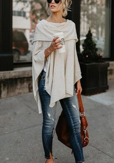 Beige Plain Cascading Ruffle Irregular Boat Neck Three Quarter Length Sleeve Fashion T-Shirt - Mode - Fashion Outfits Fall Fashion Outfits, Fall Fashion Trends, Look Fashion, Summer Outfits, Womens Fashion, Feminine Fashion, T Shirt Fashion, Fashion Ideas, Fall Trends